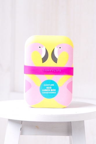 ECO LUNCH BOX FLAMINGO - SUNNY LIFE