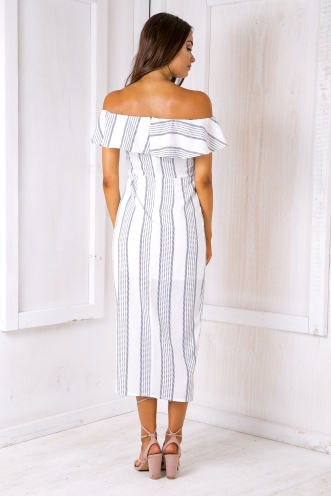Agnes maxi dress -White/Black