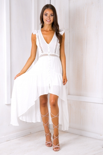 Livvy maxi dress - White