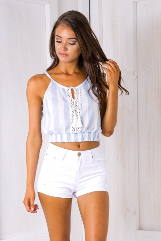 Willa denim shorts - White