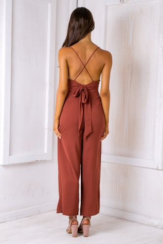 Lela jumpsuit - Rusty Brown