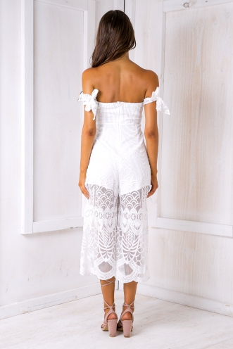 Leah lace jumpsuit - White