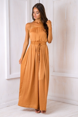 Cuba nights jumpsuit - Burnt orange