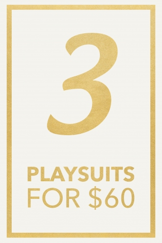 3 Playsuits Pack