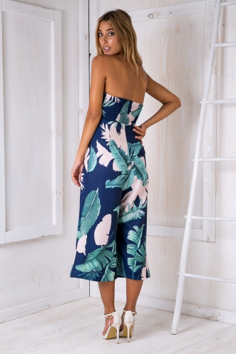 Lotus jumpsuit - Navy Palms