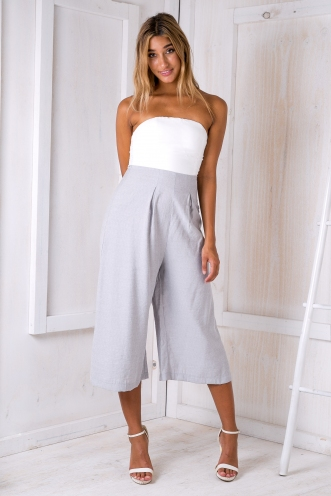 Lotus jumpsuit - White/Grey