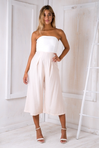 Lotus jumpsuit - White/Light apricot