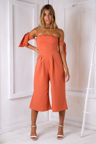 Leah jumpsuit - Rust orange-SALE