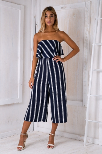 Natalia jumpsuit- Navy Stripe