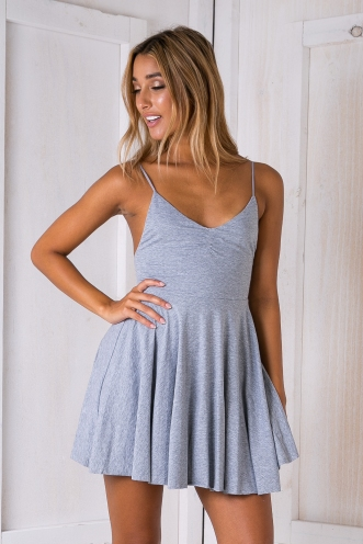 Billy skater dress - Grey