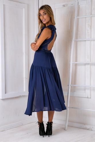 Livvy maxi dress - Navy