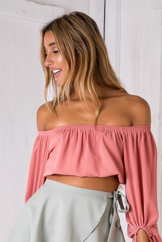 Daelyn crop top - Dusty Pink