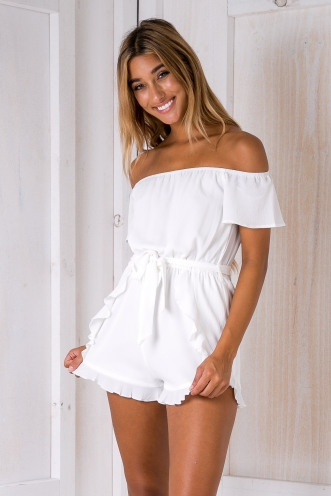 Reagan playsuit - White