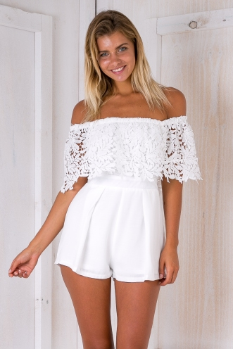Aritula Playsuit - White