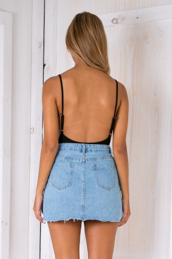 Casey Denim Skirt - Light Blue