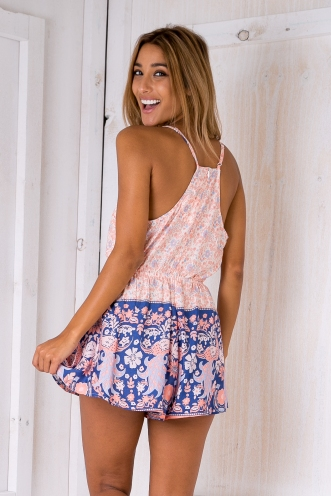 Time to sail relaxed playsuit - Pink/Blue