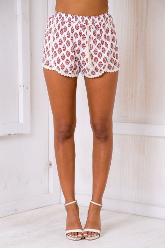 Kitti shorts - White/Red