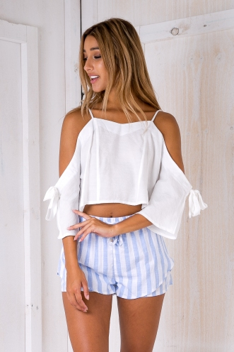 Katey crop top - White