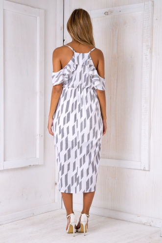 Eve maxi dress - White/Black