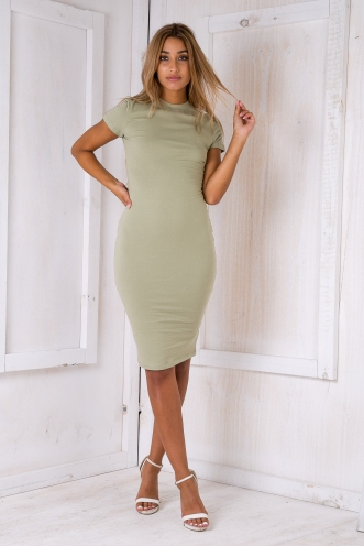 Between the lines dress - Light Khaki