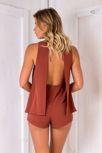 June playsuit- Rusty Brown