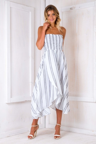 Morocco nights maxi dress - Blue/Grey