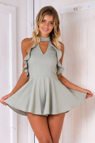 Gale playsuit - Light Khaki