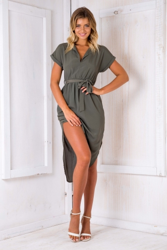 Pippa dress- Khaki