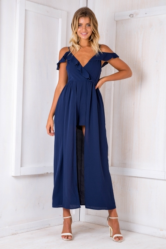 Lyla maxi playsuit -Navy-SALE