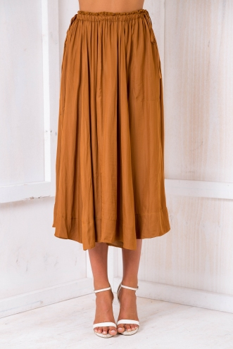 Aruba maxi skirt - Burnt orange