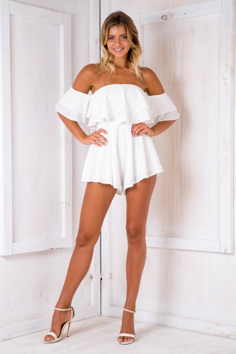 Ainsley playsuit- White