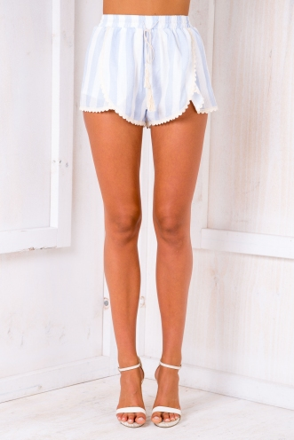 Kitti shorts - White/Light blue