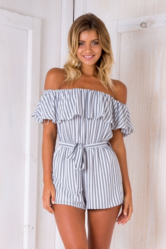 Clara playsuit - Black/White print