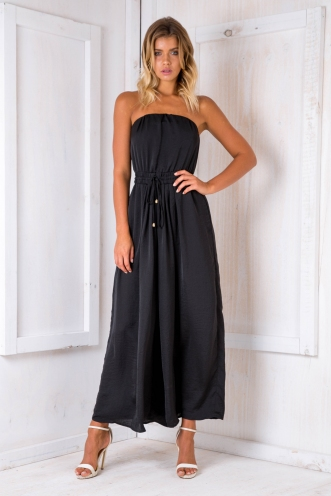 Party nights jumpsuit - Black Silk