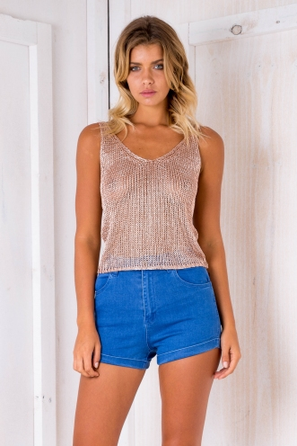 Ray Ray luxe top- Rose gold