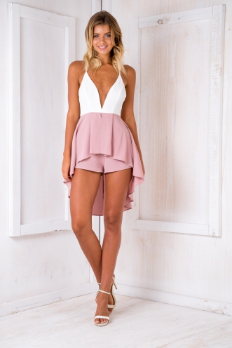 Wishing playsuit - Dusty pink-SALE