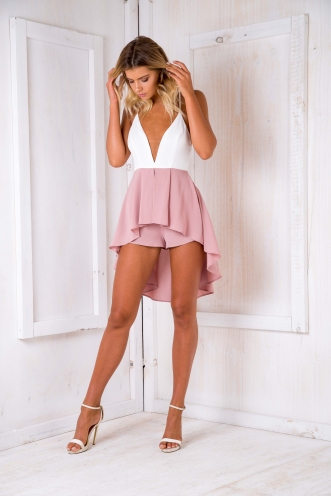 Wishing playsuit - Dusty pink