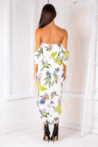 Evie maxi dress - White Palms
