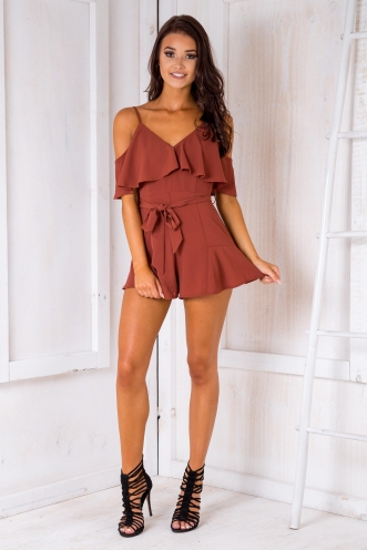 Cleo playsuit - Rust