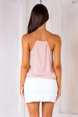 Lindy singlet top - Dusty pink