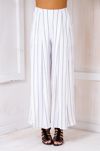 Sugar plum pants- White stripe