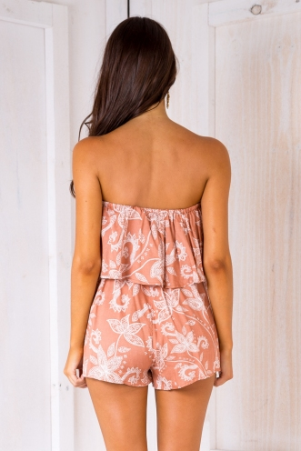 Ashley playsuit -Rust pattern