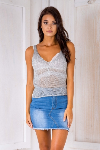 Ray Ray luxe top- Silver