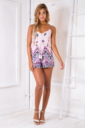 Sweet Sundays playsuit - Pink/Purple