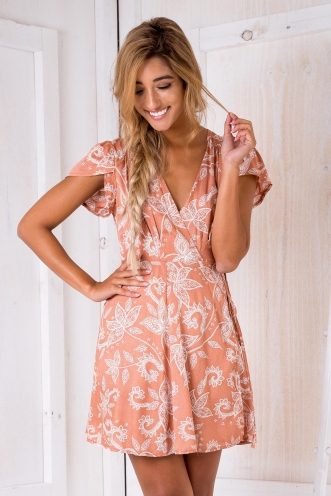 Milly wrap dress - Butterscotch