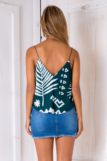 Naomi swing top - Forest green