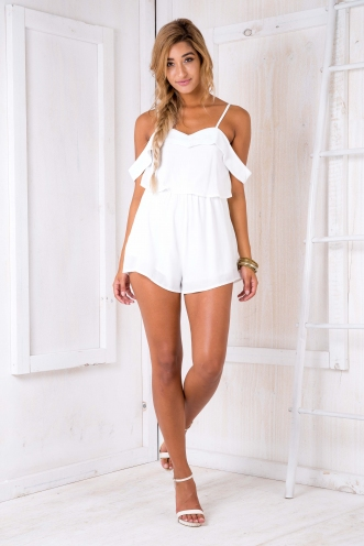 Opal playsuit - White