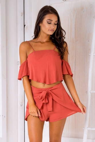 Arianna crop top - Rust