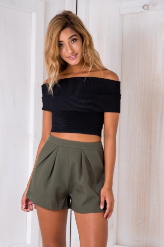 Paz crop top - Black