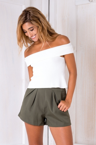 Paz crop top - White